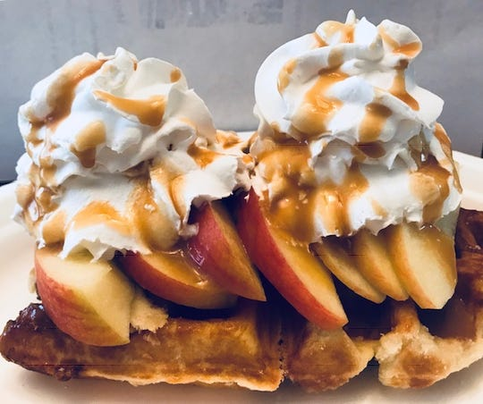Caramel Apple Liege Waffles from Bite Me Foods.