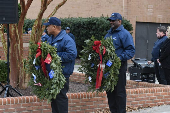 Perdue truck drivers and veterans participated in the 12th Annual Wreaths Across America ceremony at the Wicocmio War Veterans Memorial on Thursday, Dec. 13, 2018.