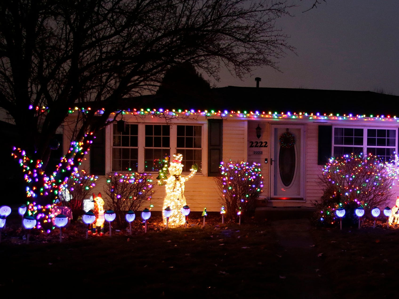 A home on Sunflower Avenue is ready for the holidays, Wednesday, December 12, 2018, in Sheboygan, Wis.