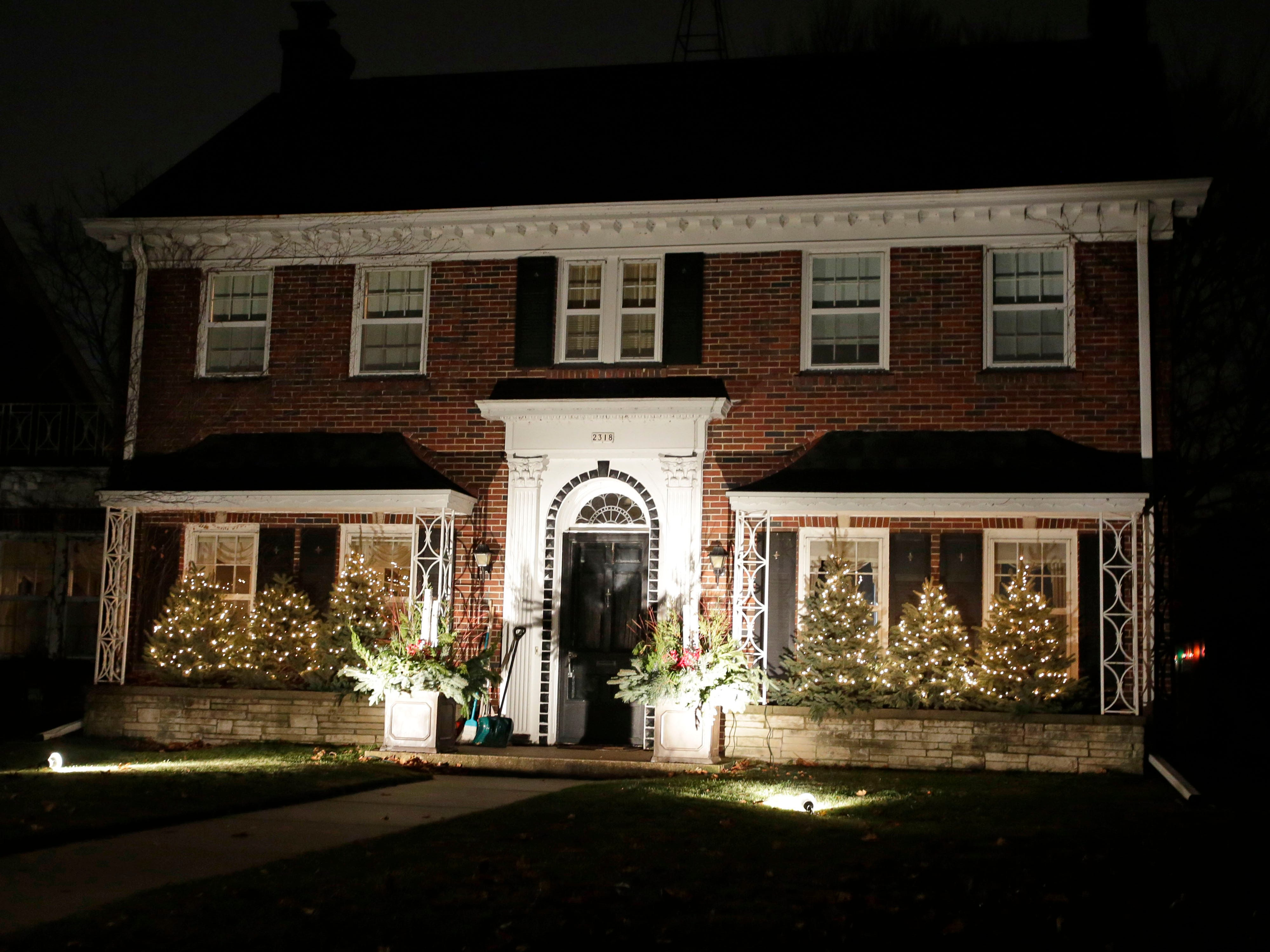 A home on North 6th and Geele, is awash with light for the holidays, Wednesday, December 12, 2018, in Sheboygan, Wis.