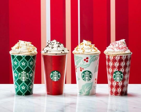 Starbucks seasonal drinks for 2018.