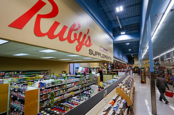 The supplements section from Ruby's Market on Sunshine Street has already combined with the Price Cutter at 3260 Battlefield Road before the Ruby's closes on Dec. 24. The two stores are combining into one at the Price Cutter location on Battlefield Road.