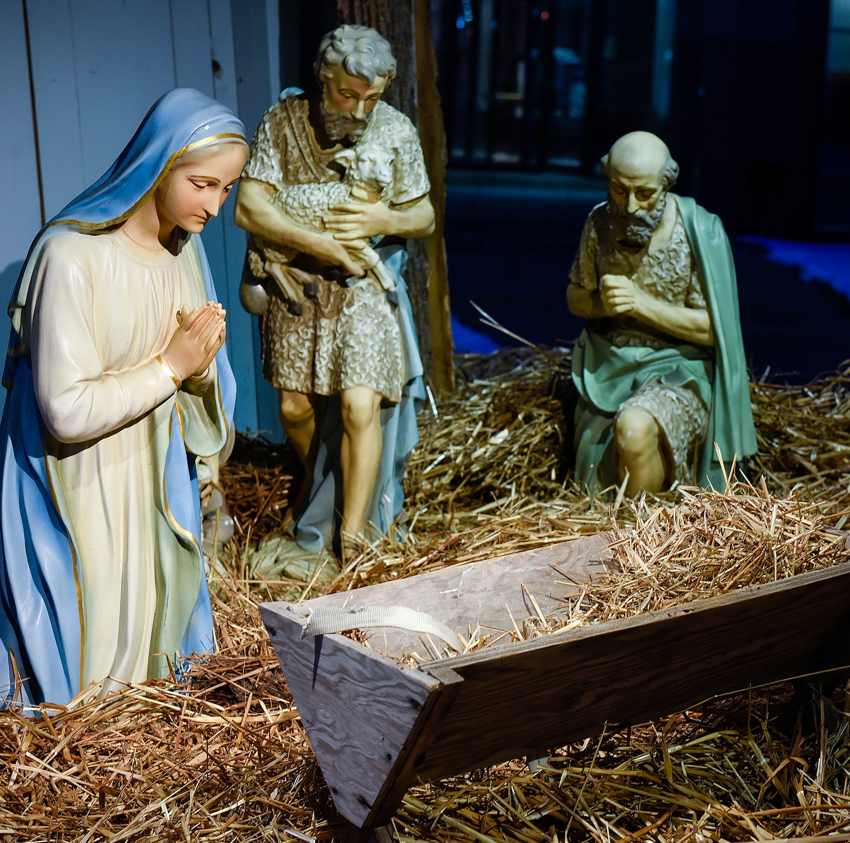 Away from his manger: Antique baby Jesus stolen from downtown nativity scene