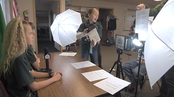 Get a behind-the-scenes look at Iron Springs Elementary School's news broadcast. Teacher Dylan Kirklin talks about the students who produce the show.