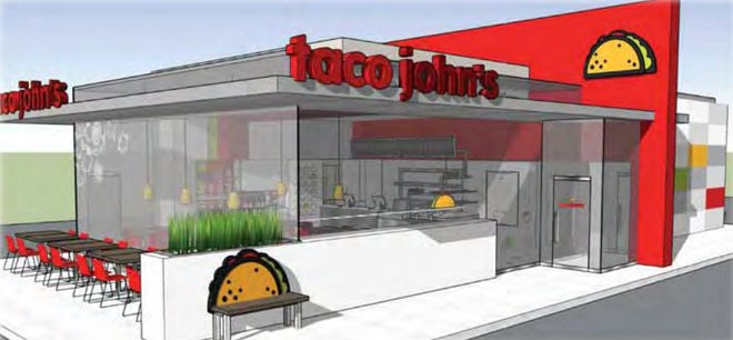A rendering of Taco John's for Stevens Point
