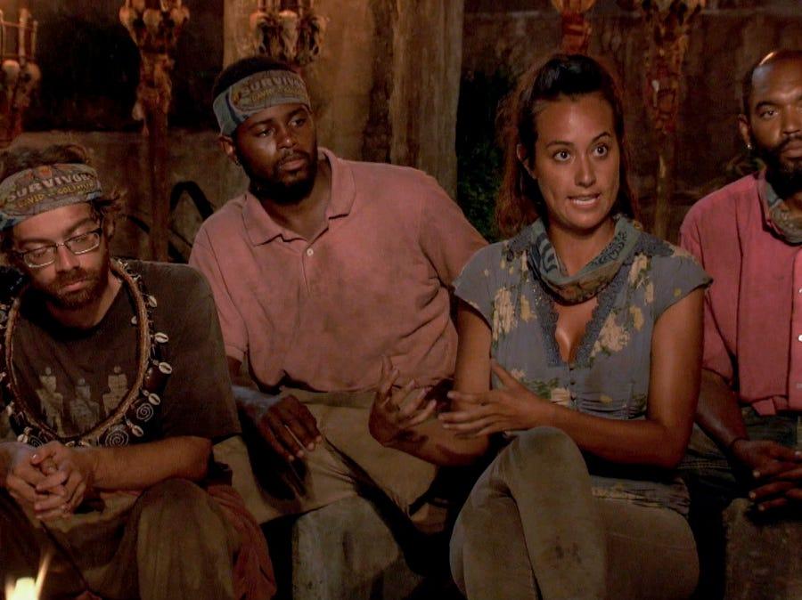 """Survivor"" episode 10:  FAMU/FSU robotics professor Christian Hubicki  is safe at tribal council."