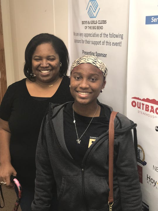 Marquia Clemons with her mom, Vanessa Washington, at the Boys & Girls Club of the Big Bend.