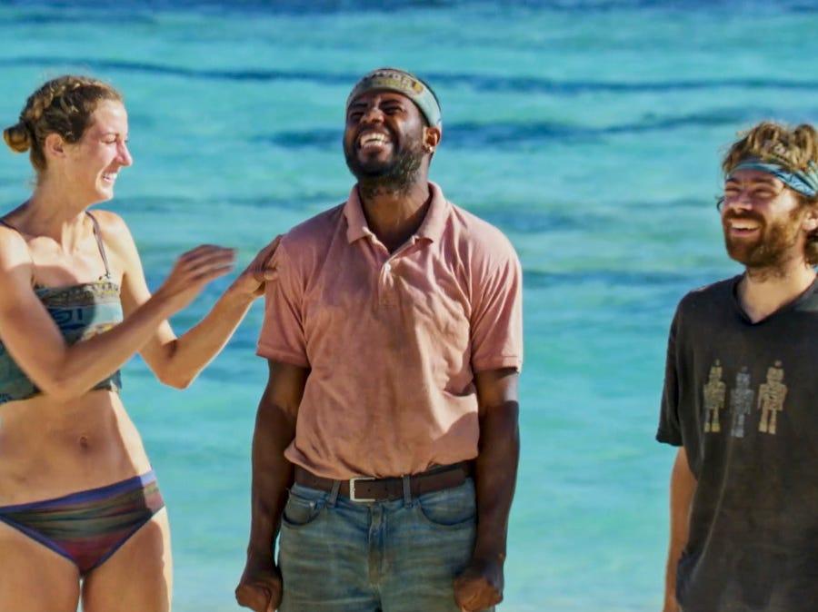 """Survivor"" episode 12: FAMU/FSU professor Christian Hubicki, Alison Raybould, and Davie Rickenbacker compete in a challenge."