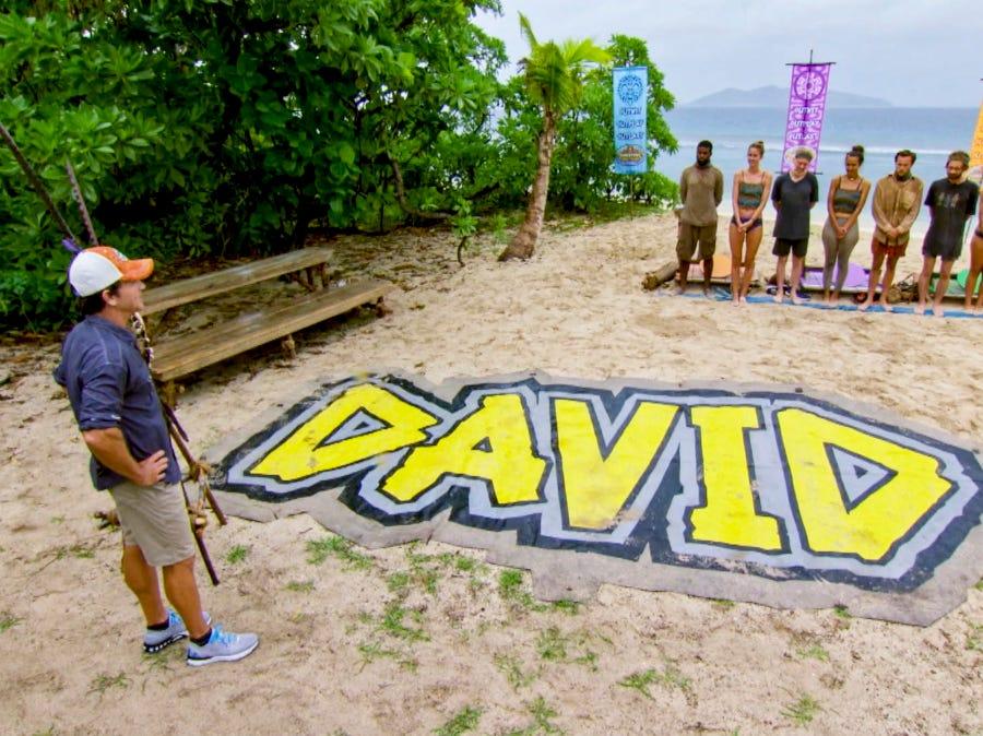 """Survivor"" episode 13:  Contestants compete in a challenge."