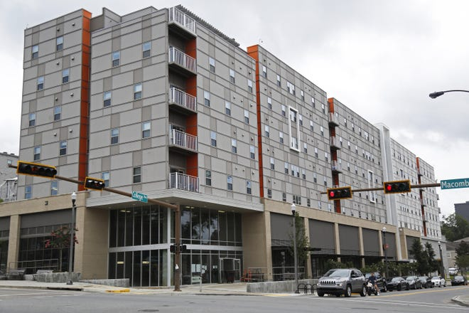 The Onyx, a mixed-use development that includes apartments and businesses located near FSU's campus.