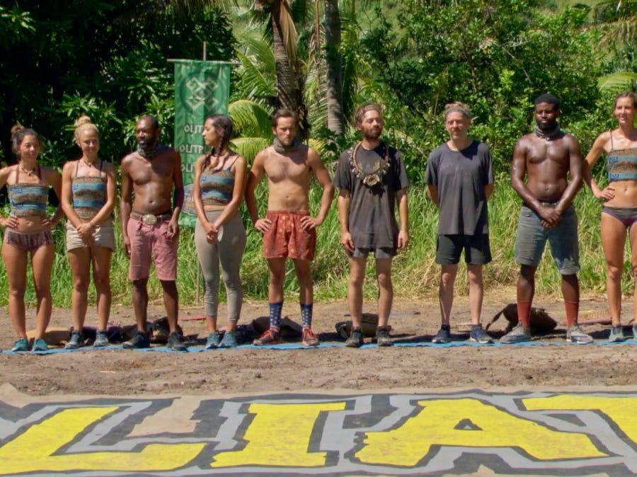 """Survivor"" episode 10:  Contestants compete in a challenge."