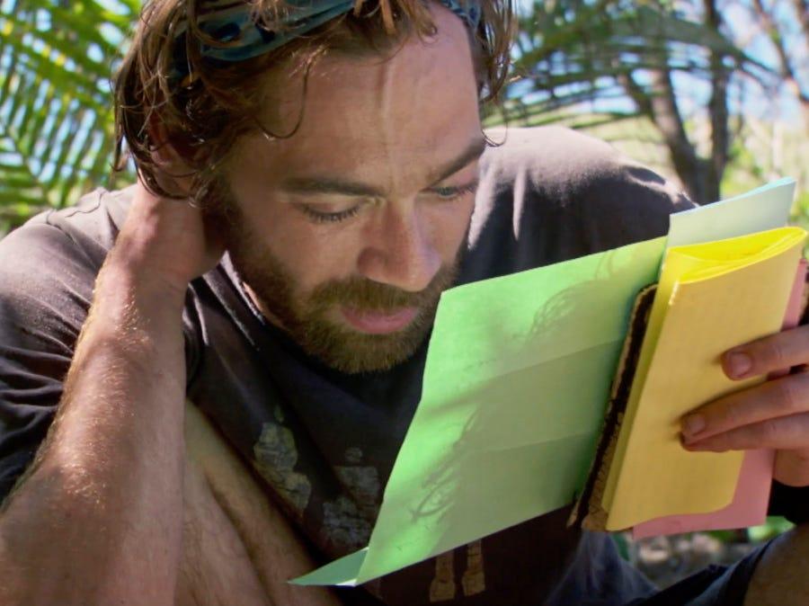 """Survivor"" episode 10:  FAMU/FSU robotics professor Christian Hubicki  enjoys a reward for winning a challenge."