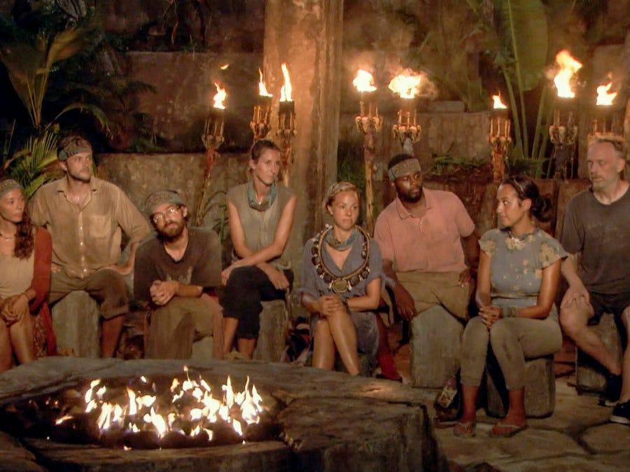 """Survivor"" episode 12:  Tribal council"