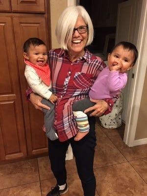 Candace McKibben and her grandbabies.
