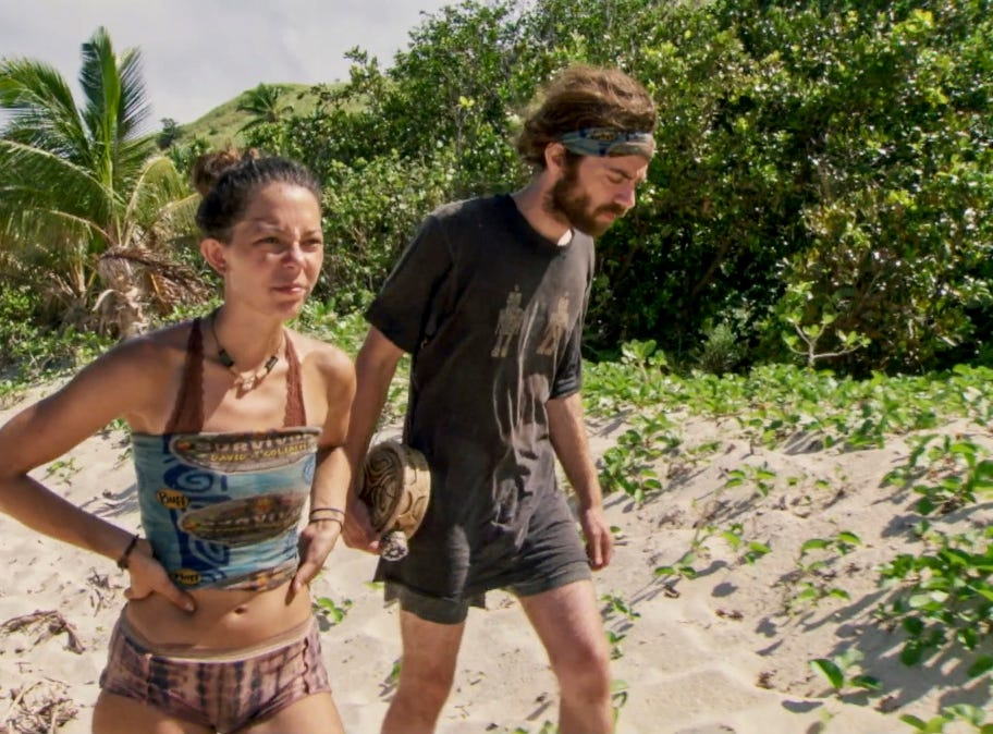 """Survivor"" episode 12:  Gabby Pascuzzi and Christian Hubicki."