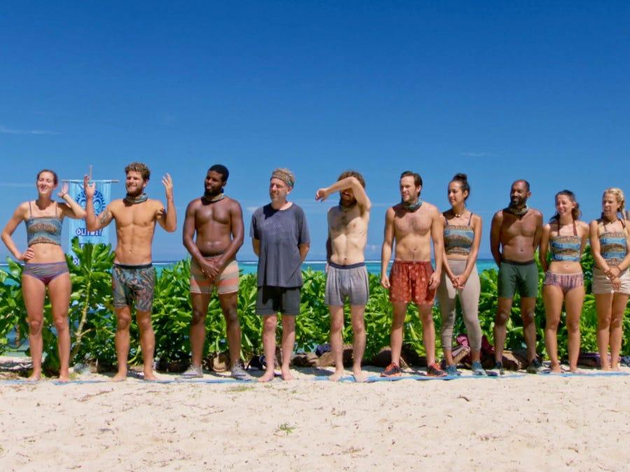 """Survivor"" episode 10:  Contestants compete in an individual immunity challenge."