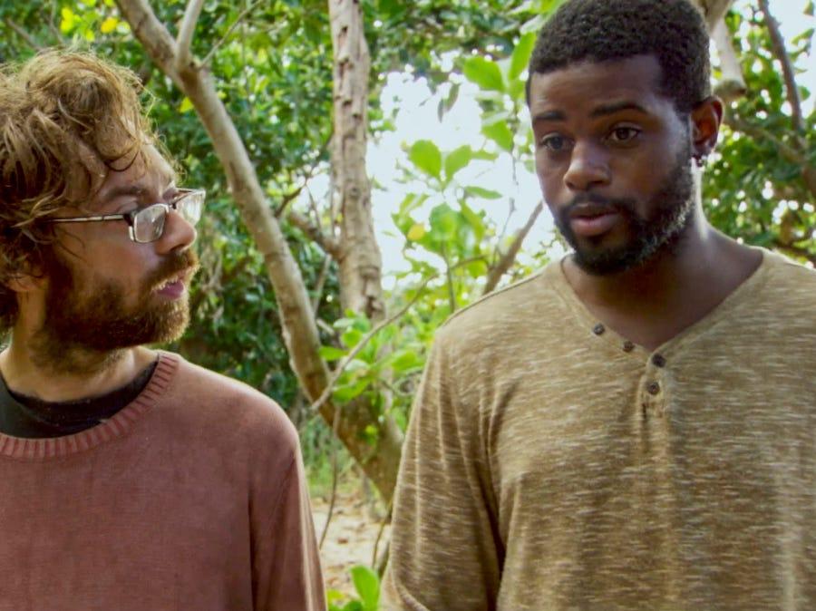 """Survivor"" episode 12: Christian Hubicki and Davie Rickenbacker discuss strategy."