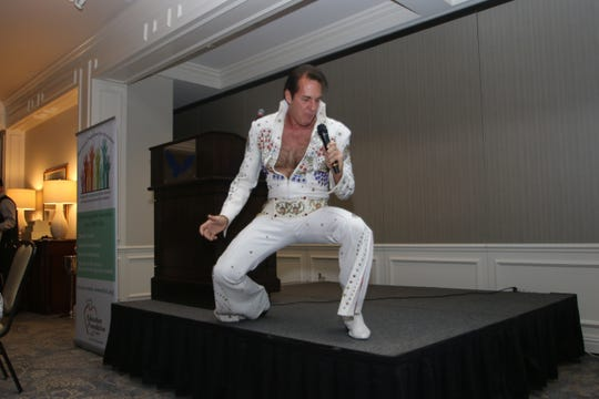 An Elvis impersonator was part of the evening's entertainment.