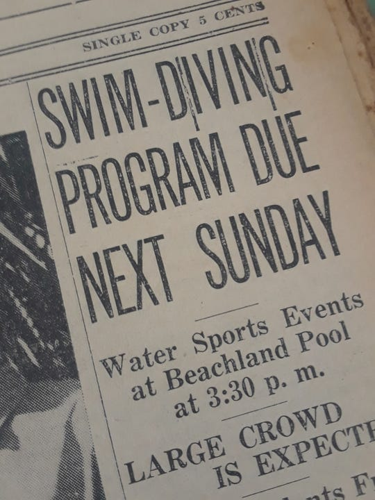 First swimming and diving competition begins in 1939.