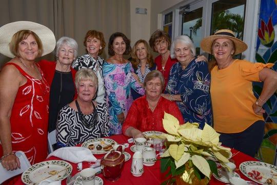 Board member Nancy Landry's table