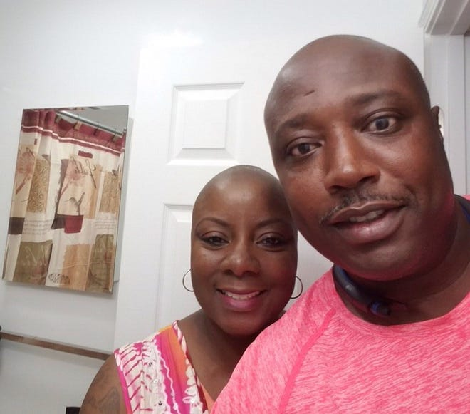 Okeechobee's Rondia (left) and Demetre Riles have been married for 18 years. Rondia has been battling breast cancer for the past 19 months.