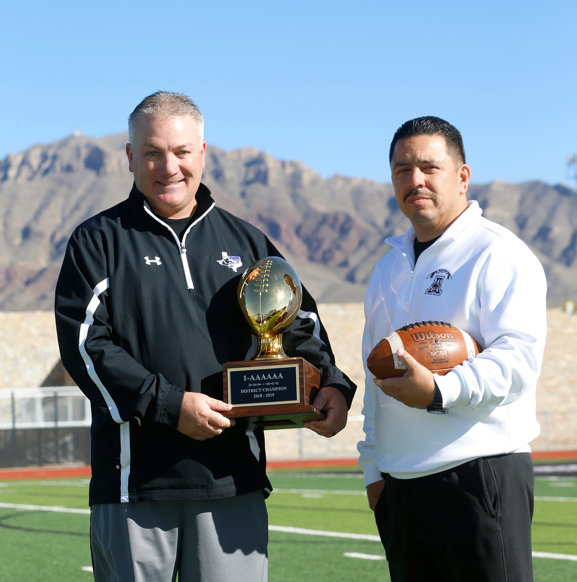 The 2018 El Paso Times All-City Football co-coaches of the year are Franklin High Schools Daren Walker and Austin High Schools Eric Pichardo.