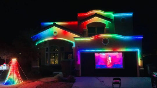 El Pasoan Ricardo Carrillo has created a synchronized light and music show to celebrate his daughter's first Christmas.