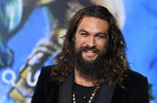 "Jason Momoa arrives at the premiere of ""Aquaman"" at TCL Chinese Theatre on Wednesday, Dec. 12, 2018, in Los Angeles."