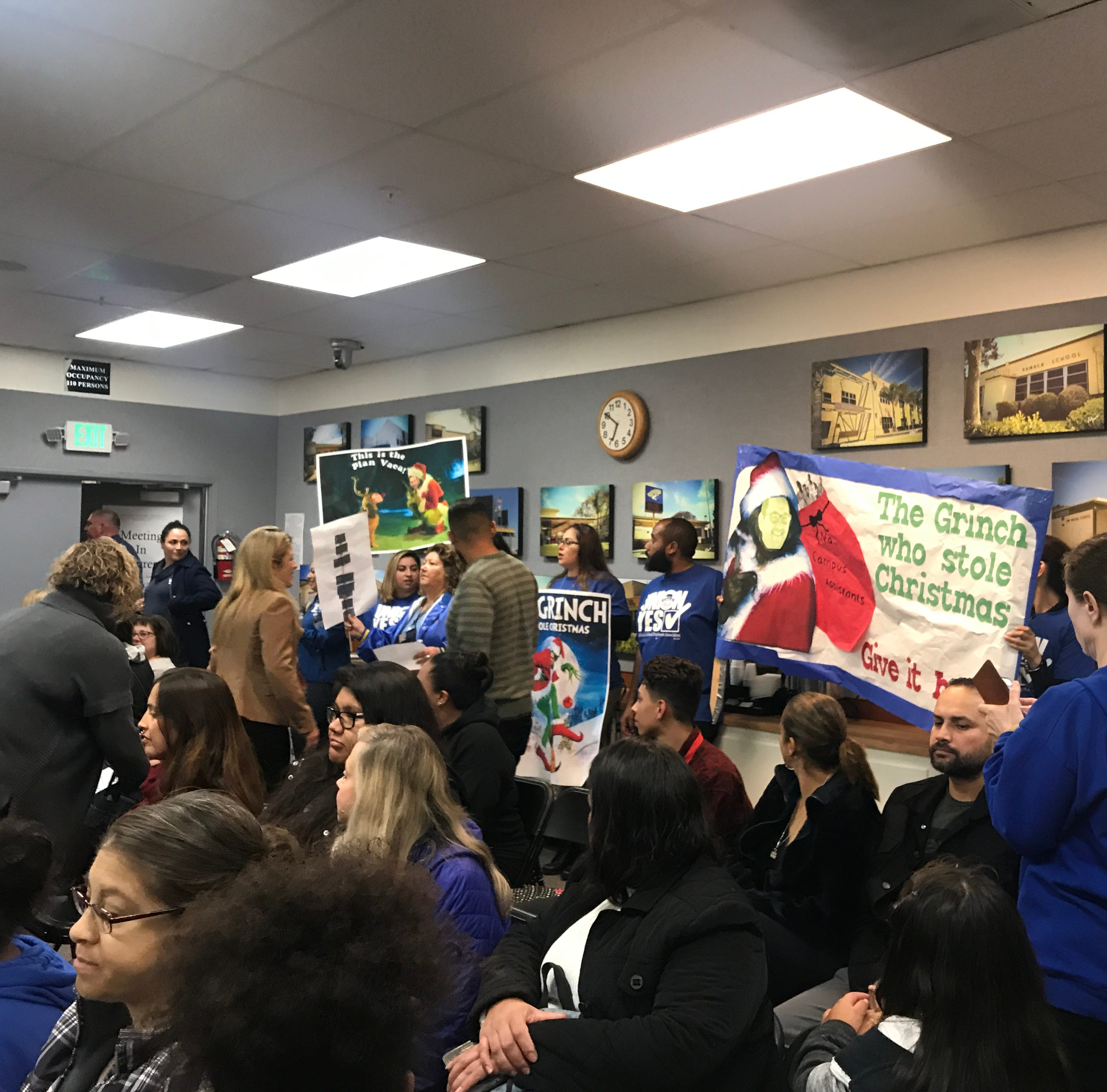 Oxnard school board votes to keep current campus assistants in heated hours-long meeting