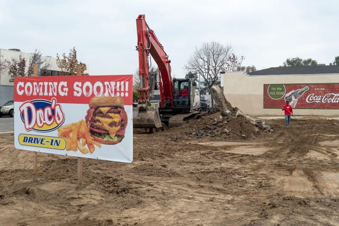 Demolition of the lot at Main and Willis streets on Wednesday, December 12, 2018 for Doc's Drive-in's new location.