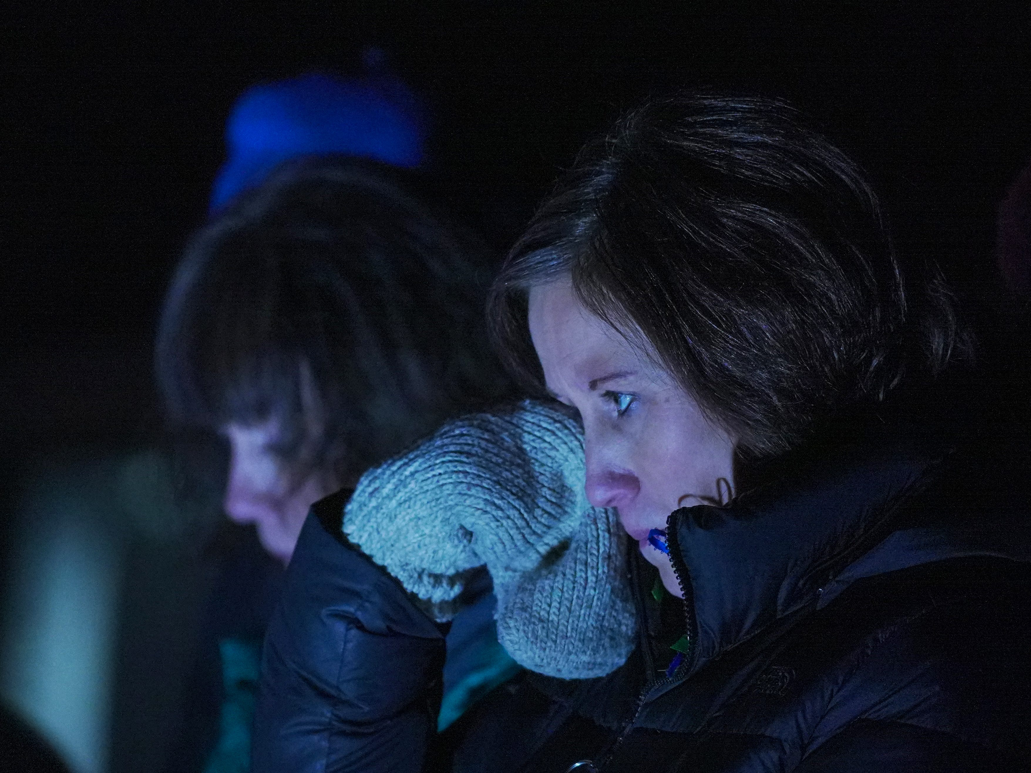 A person wipes away tears during the Tree of Hope for Jayme Closs ceremony Wednesday, Dec. 12, 2018, outside of Riverview Middle School in Barron, Wisc. T'xer Zhon Kha/USA TODAY NETWORK-Wisconsin