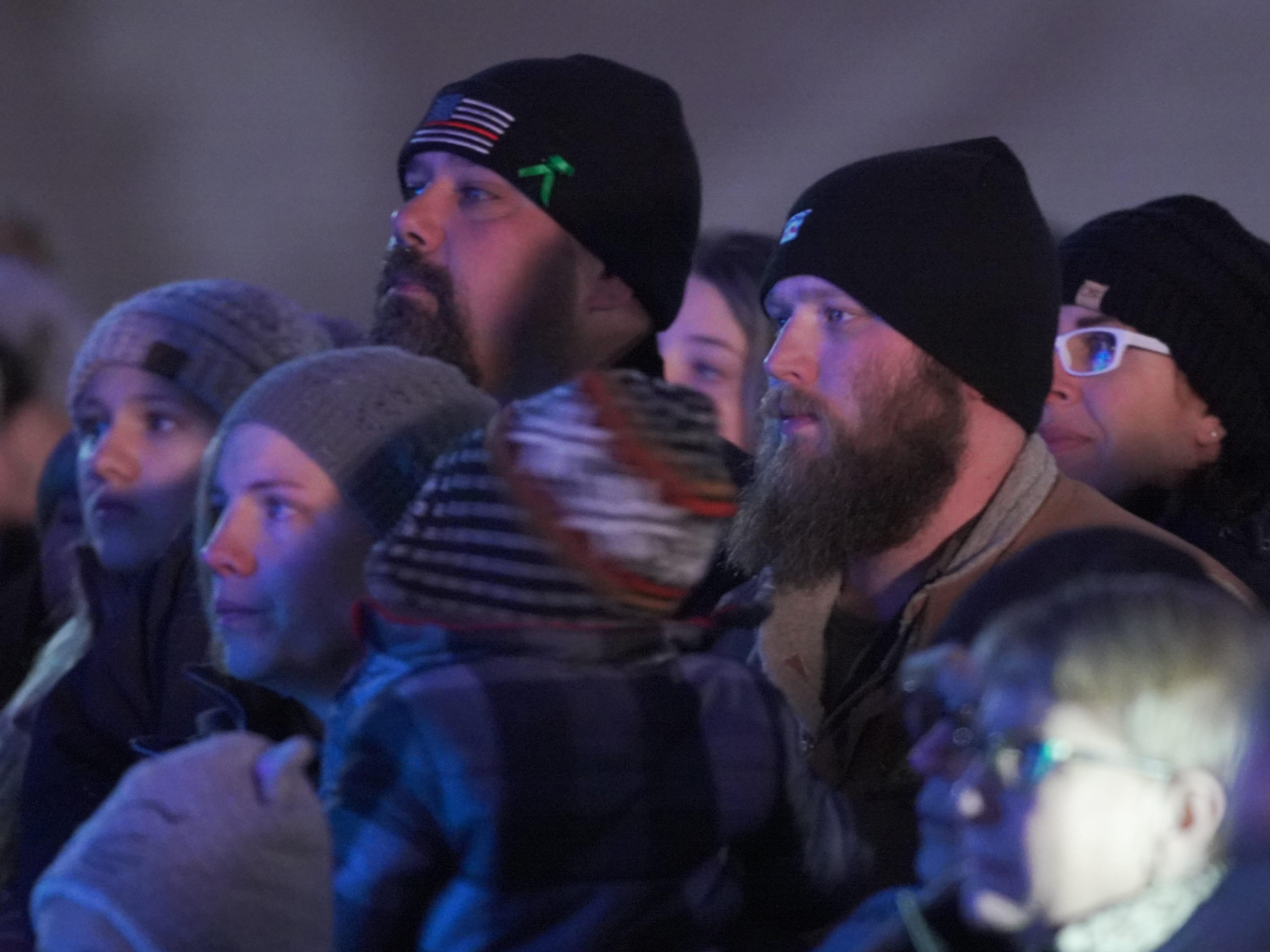 People listen during the Tree of Hope for Jayme Closs ceremony Wednesday, Dec. 12, 2018, outside of Riverview Middle School in Barron, Wisc. T'xer Zhon Kha/USA TODAY NETWORK-Wisconsin