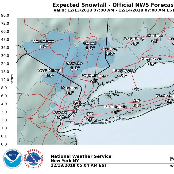 Weather: 1-2 inches of snow could fall today