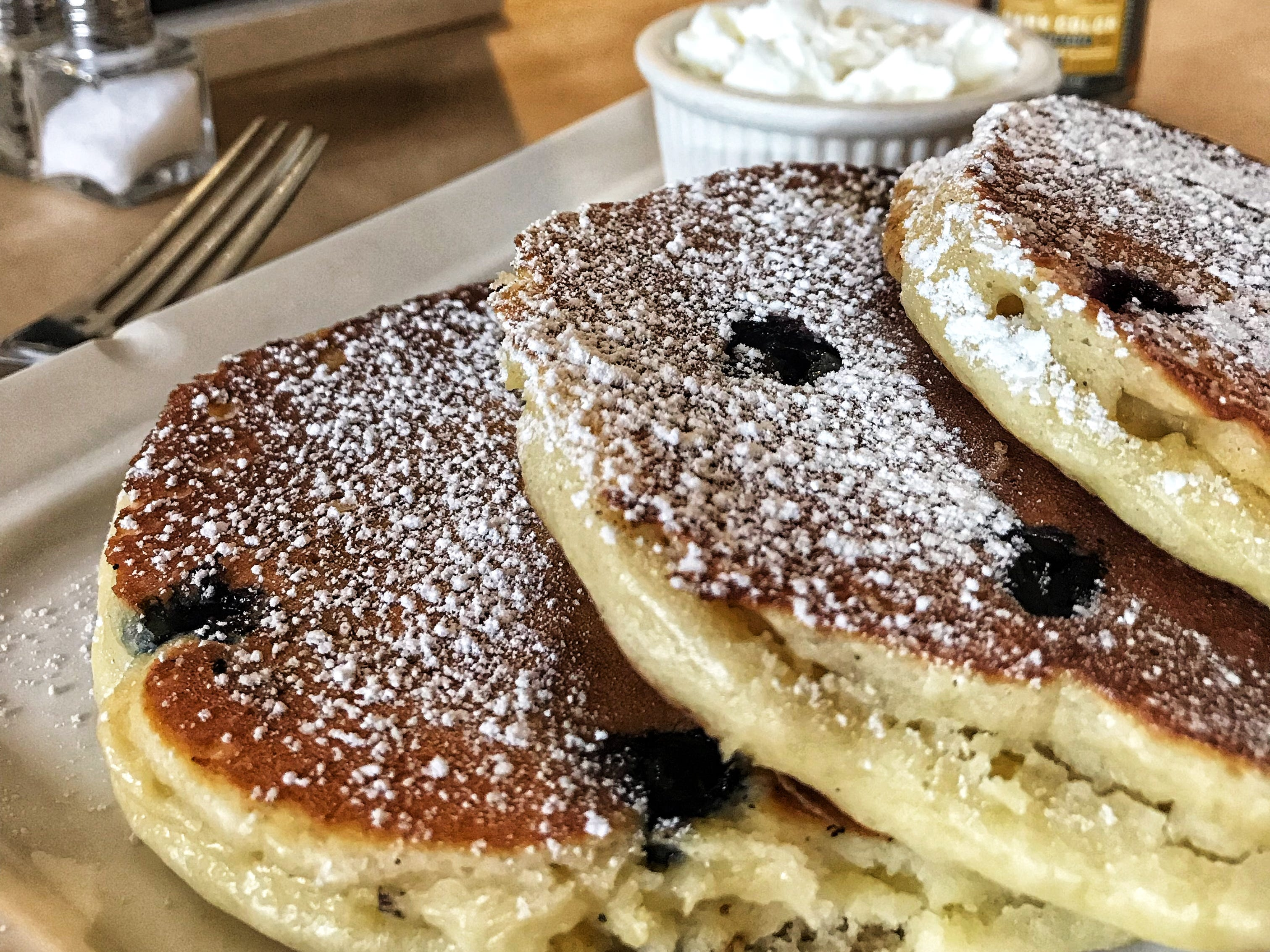 Blueberry Pancake at On the Way Cafe in Rye. Photographed Dec. 12, 2018.