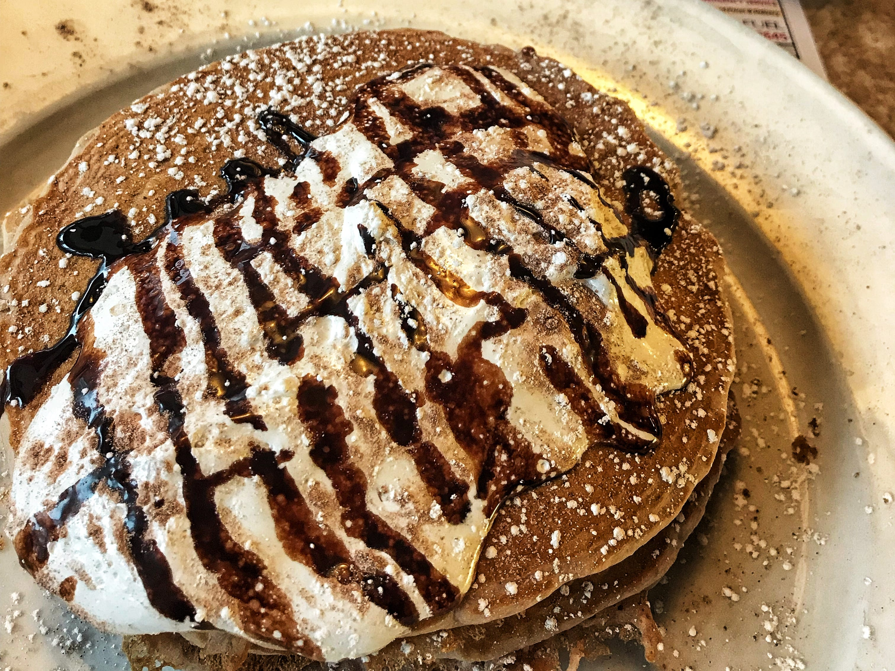 The Brownie S'mores Pancake from DDs Diner in Ossining. Photographed Dec. 13, 2018.