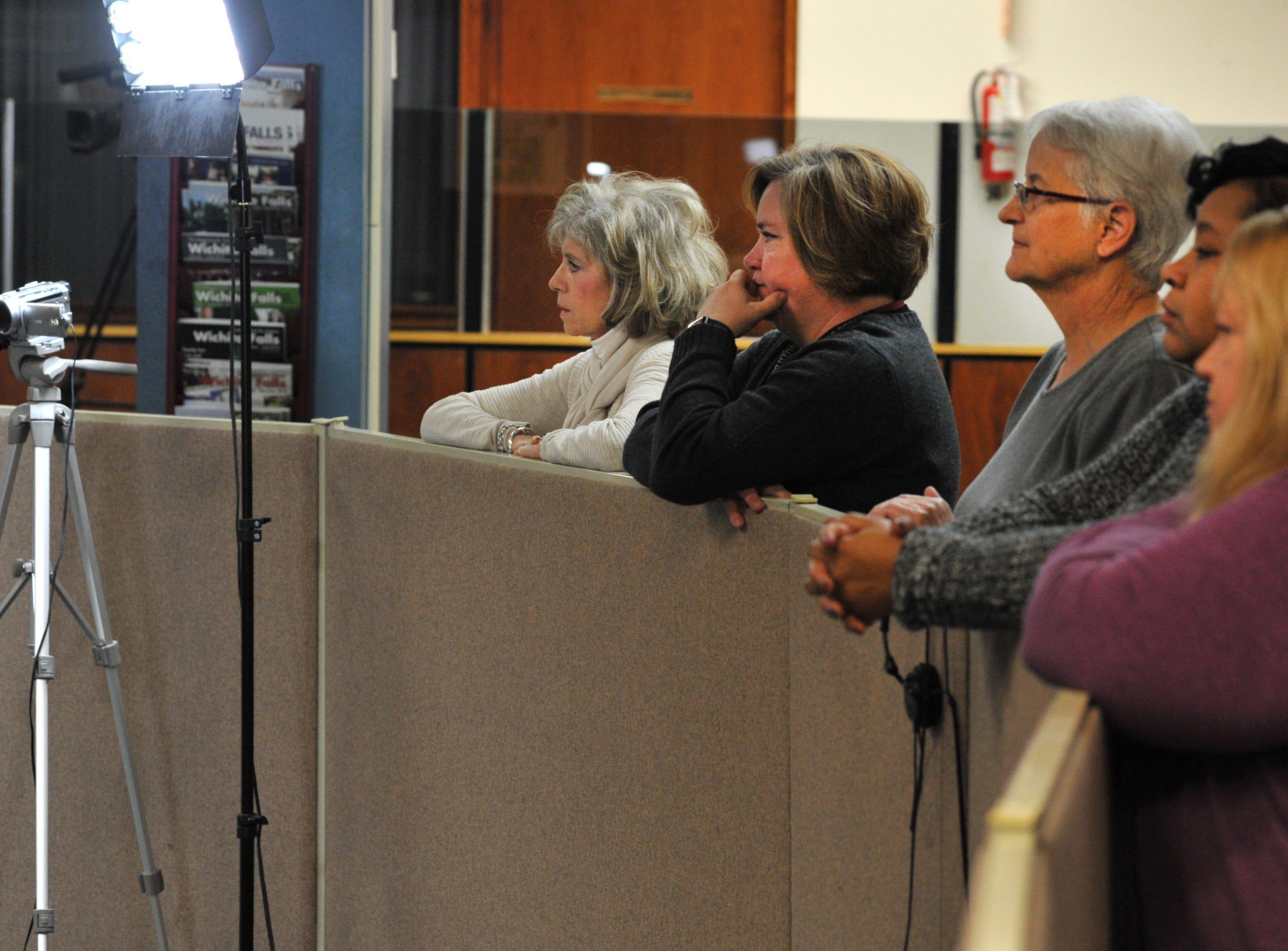Times Record News employees enjoyed the caroling of the Wichita Falls High School choir Thursday morning.
