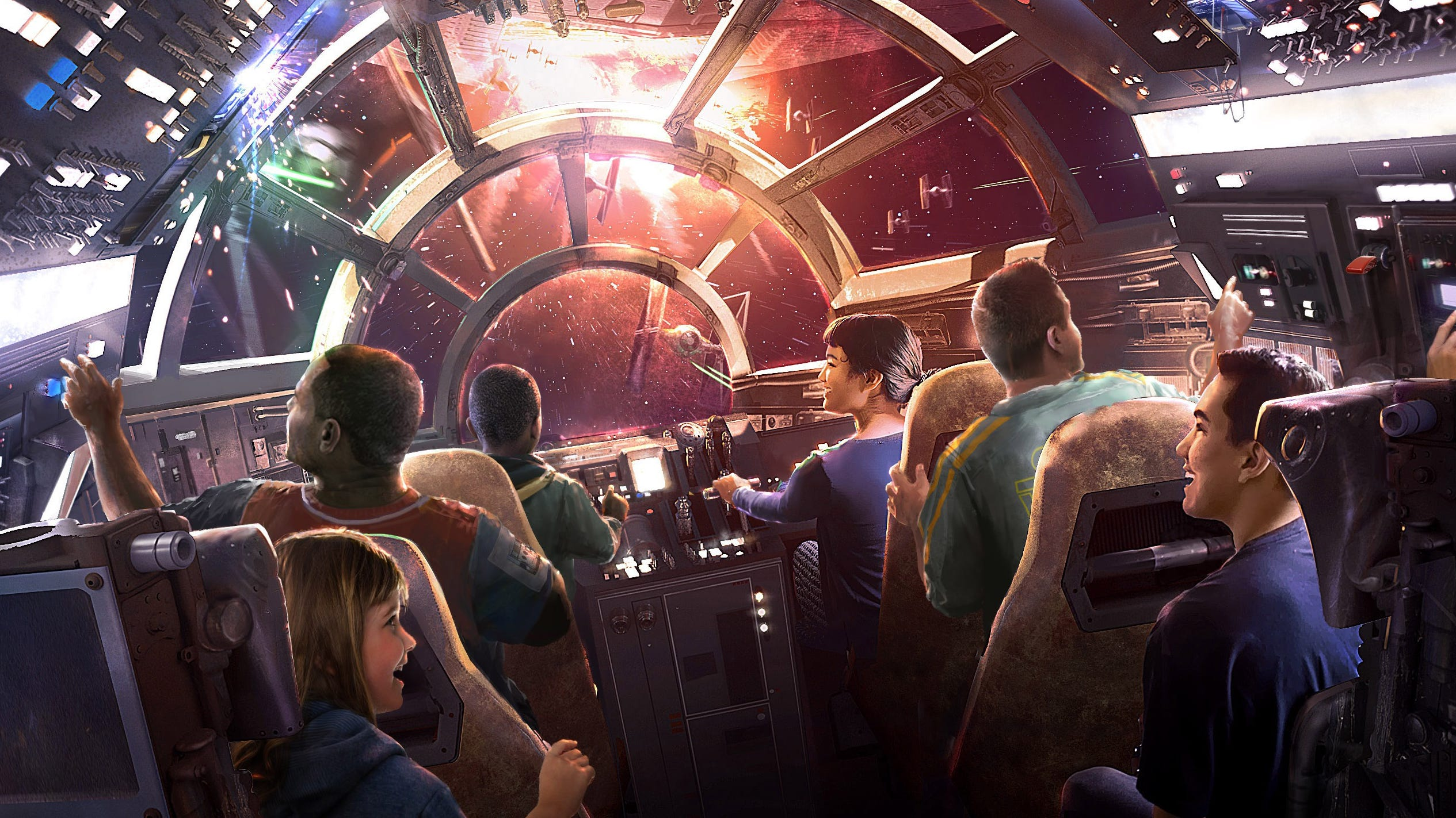 Millennium Falcon: Smugglers Run will turn the controls of the legendary starship over to visitors.