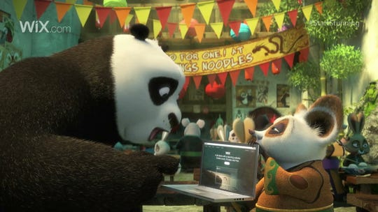1/2016 Admeter 2016 -Wix.com's ad 'Start Stunning' for Super Bowl 50 features characters from the movie 'Kung Fu Panda.' (Via OlyDrop)