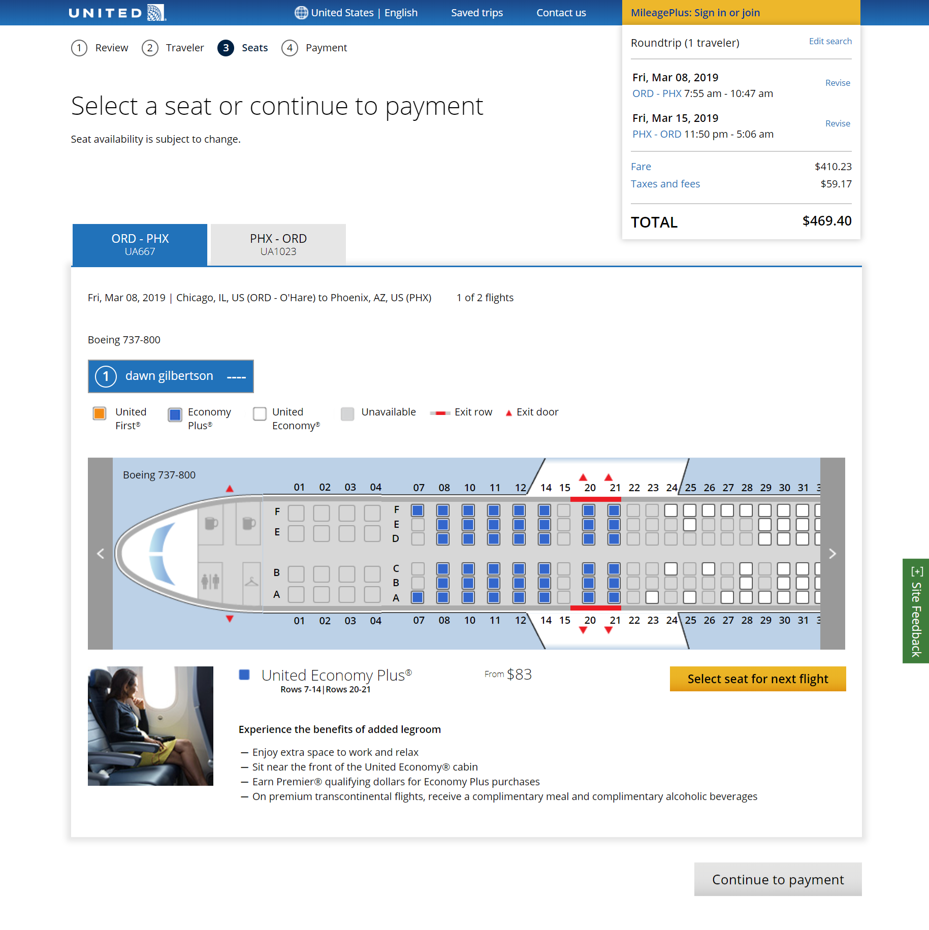 "United Airlines is going to start charging for ""preferred'' seats in coach."