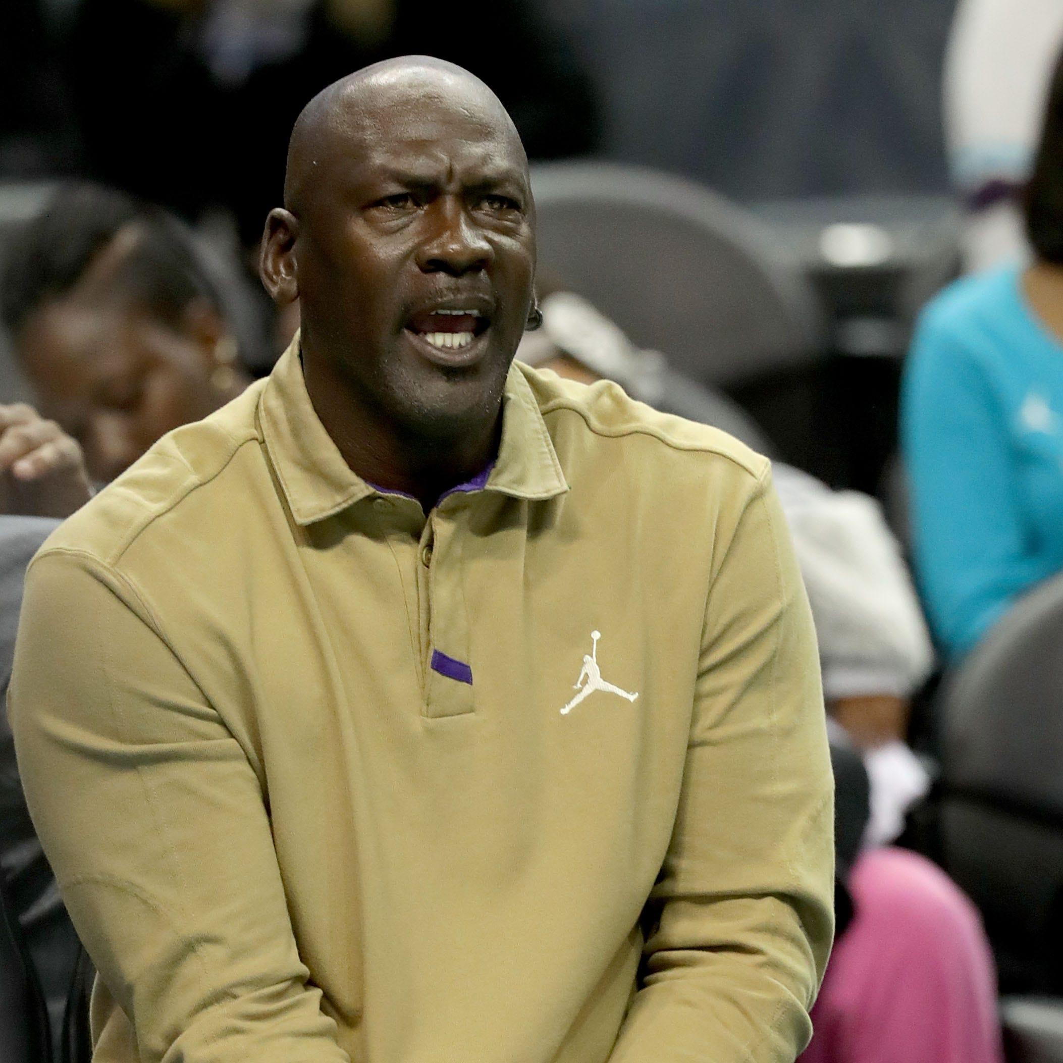 Michael Jordan, owner of the Charlotte Hornets,...