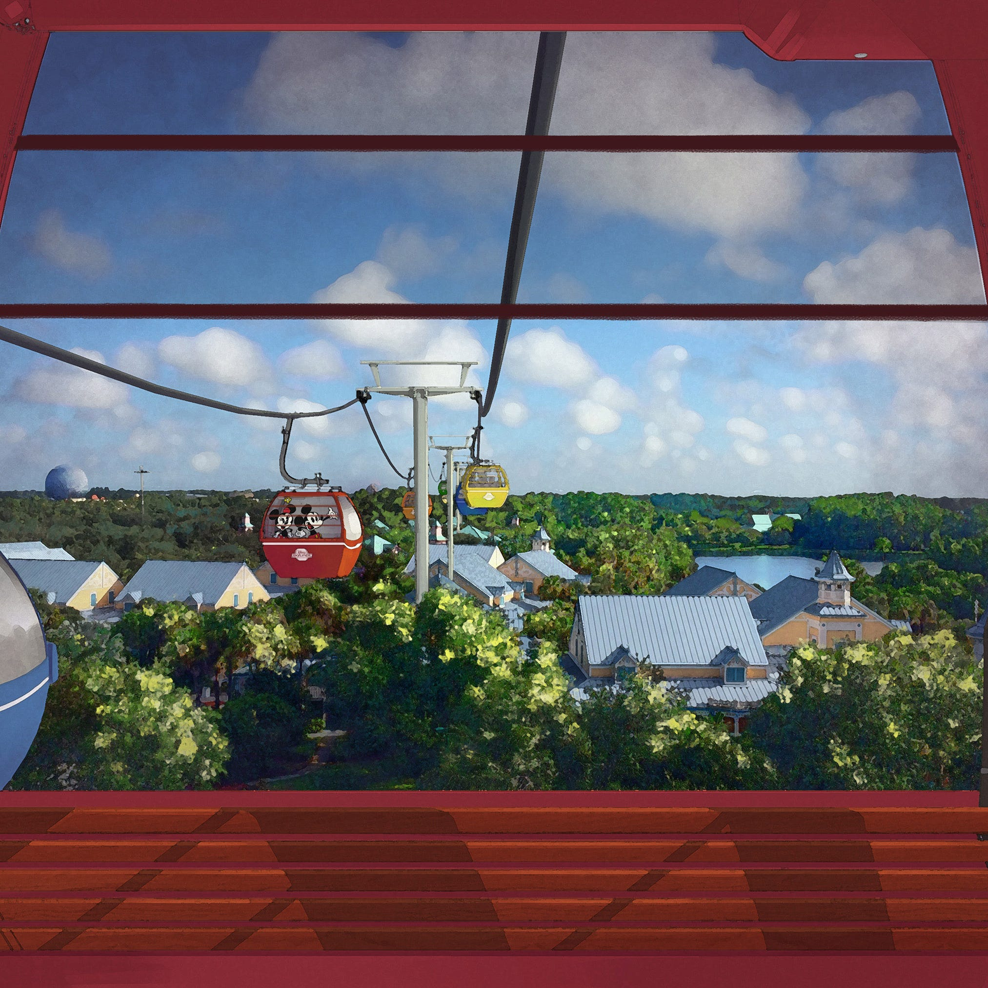 Disney's new Skyliner gondolas in Orlando make first test run