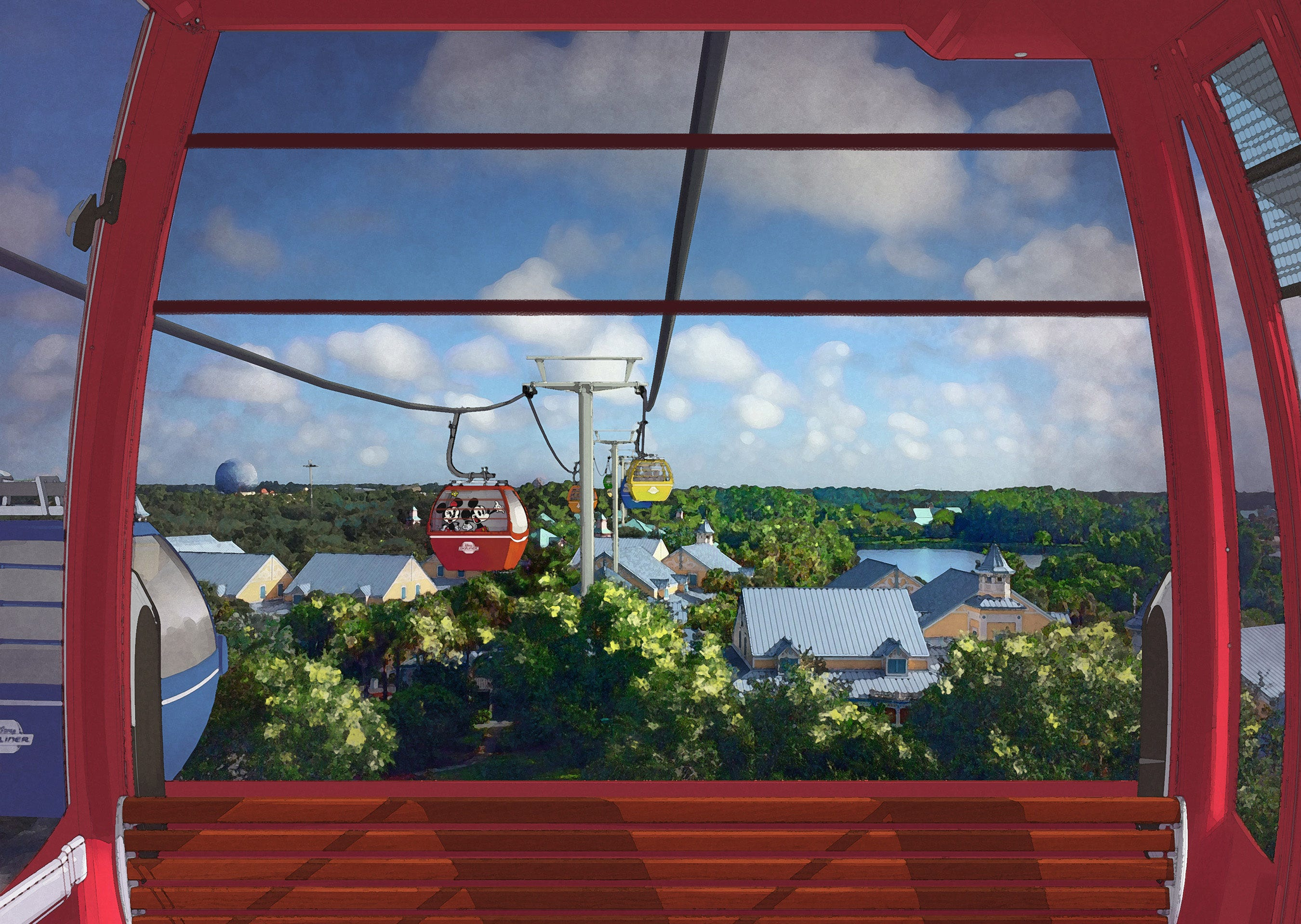 There will be a new way to get to Epcot along with Disney's Hollywood Studios next year when the resort opens its new Skyliner transportation system in the fall.