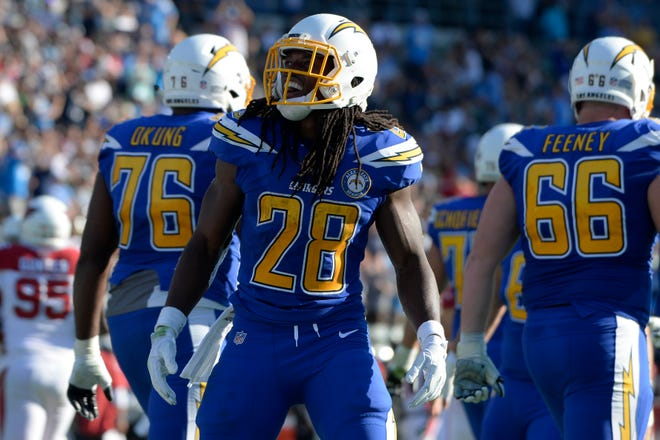 Chargers running back Melvin Gordon has missed the past two games, but could return Thursday night against the Chiefs.