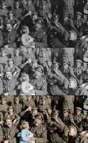 "A demonstration of the restoration and colorization of the film ""They Shall Not Grow Old."""
