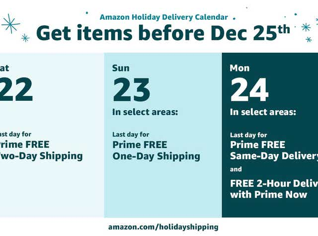 Amazon Shipping Deadlines When To Place Your Final Christmas Orders And Get Them On Time