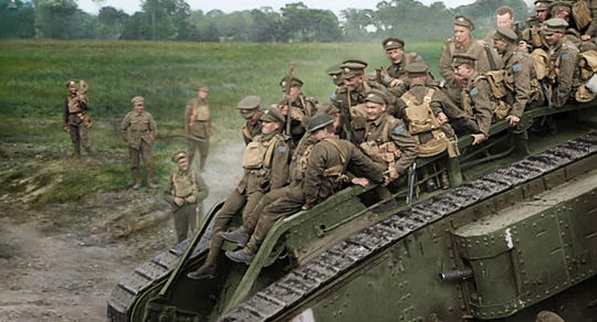 """They Shall Never Grow Old"" shows how the introduction of the tank, changed the course of the war."