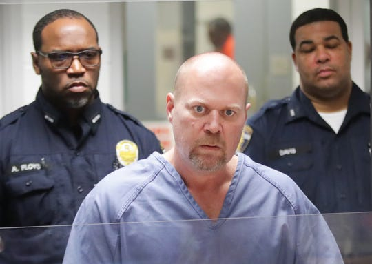 Gregory Bush is arraigned on two counts of murder and 10 counts of wanton endangerment. The 51-year-old is accused of killing two black shoppers inside a Kroger's grocery store.