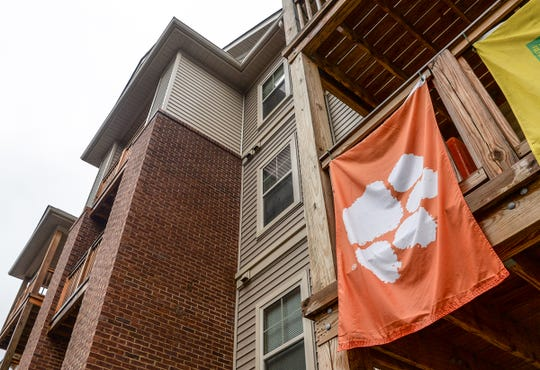 Crawford Edge townhouses at 211 Kelly Road in Clemson, one of many housing developments that Clemson University students use just outside of campus off of State Highway 93 in Clemson.