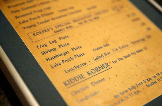 A menu for Roepke's Village Inn from 1969.