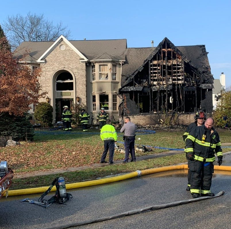 Toms River First Aid Squad captain saved from burning home; 4 pets are killed